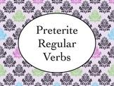 Spanish Preterite Tense of Regular Verbs PowerPoint Slideshow Presentation