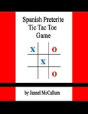 Spanish Preterite Tic Tac Toe Game
