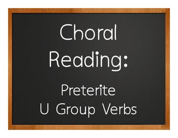 Spanish Preterite U Group Choral Reading