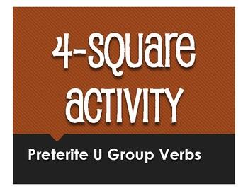 Spanish Preterite U Group Four Square Activity