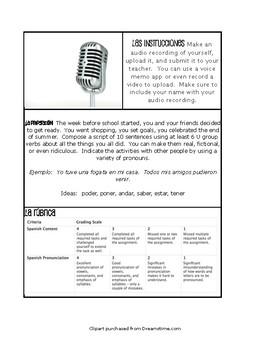 Spanish Preterite U Group Paperless Challenges
