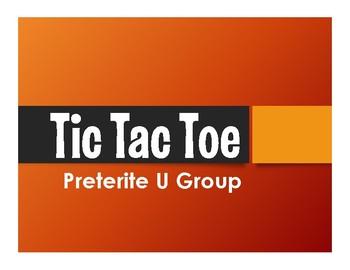 Spanish Preterite U Group Tic Tac Toe Partner Game