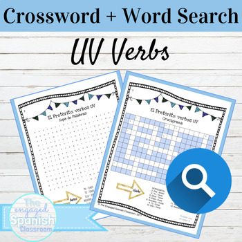 Spanish Preterite UV Verbs: Word Search and Crossword With Answer Keys