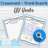 Spanish Preterite UV Verbs Word Search and Crossword With Answer Keys