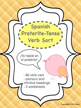 Spanish Preterite Verb Sort