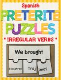 Spanish Irregular Preterite Verbs Conjugation Puzzle Activity - El Preterito