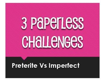 Spanish Preterite Vs Imperfect Paperless Challenges