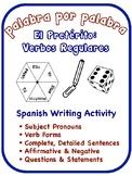 Spanish Preterite Writing Activities; Regular Verbs (6 Versions)