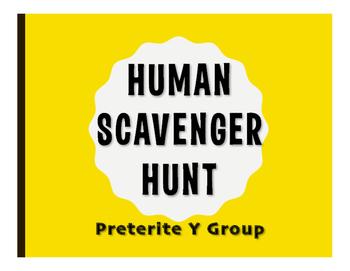 Spanish Preterite Y Group Human Scavenger Hunt
