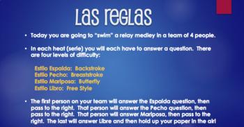Spanish Preterite Y Group Relay Race