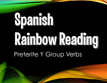 Spanish Preterite Y Group Stations