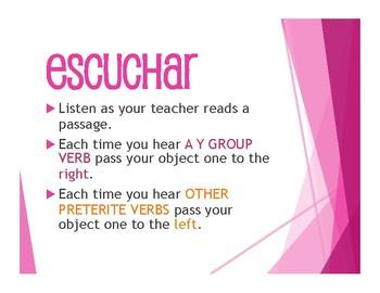 Spanish Preterite Y Group Tactile Activity