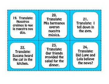 Spanish Preterite Y Group Task Cards