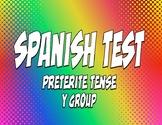 Spanish Preterite Y Group Test