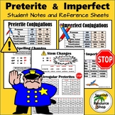 Spanish Preterite and Imperfect Conjugations Notes