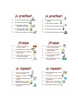 Spanish Preterite and Imperfect Difference Notes and Practice Powerpoint BUNDLE