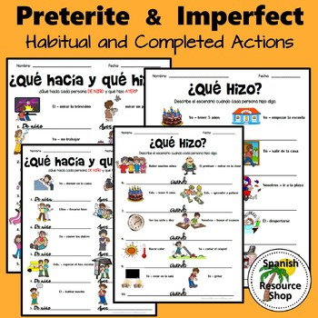 Spanish Preterite and Imperfect Habitual and Completed Actions Practice