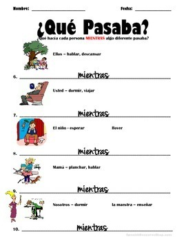 Spanish Preterite and Imperfect Interruptions and Simultaneous Actions Practice