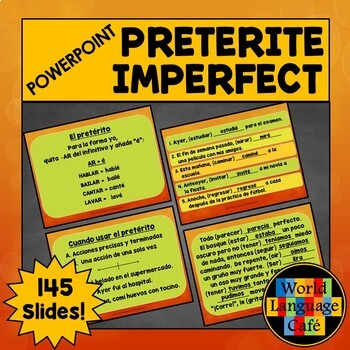 Preterite vs. Imperfect PowerPoint, Formation, Activities, Spanish