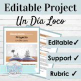 Editable Spanish Project Preterite and Imperfect | Spanish Story Project