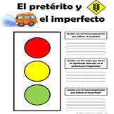 Spanish Preterite and Imperfect Traffic Light Phrase Indicator