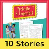 Spanish Preterite and Imperfect verb tenses: 10 stories, grammar exercises