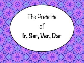 Spanish Preterite of Ir, Ser, Ver, & Dar Keynote Presentation for Mac & iPad