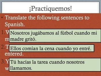Spanish Preterite vs Imperfect: Interruption & Ongoing Powerpoint & Notes 4