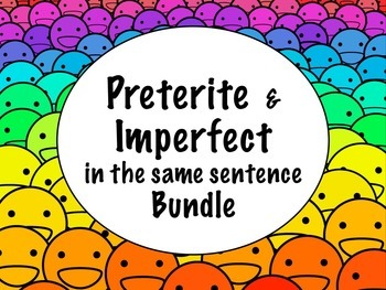 Spanish Preterite vs. Imperfect MEGA BUNDLE- Slideshows, Worksheets
