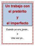 Spanish Preterite vs. Imperfect Poster Project
