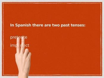 Spanish Preterite vs. Imperfect Tenses (comparison) PowerPoint Slideshow