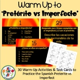 Spanish Preterite vs Imperfect Warm-Ups and Task Cards