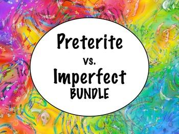Spanish Preterite vs. Imperfect (comparison) BUNDLE- PowerPoint, worksheets...
