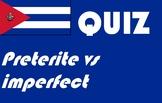 Spanish Español Preterite vs imperfect quiz or worksheet r