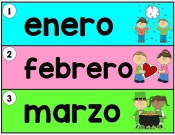 Spanish Primary Calendar Kit