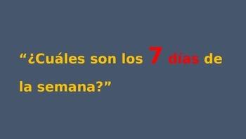 Spanish Primer Día de Clases TPR PowerPoint & Activity