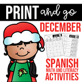 Spanish Print and go- December