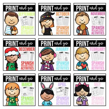 Spanish Print and go! *Growing bundle*