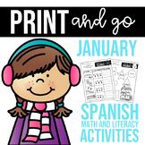 Spanish Print and go- January
