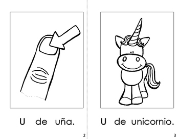 Spanish Printable Alphabet Book (La Letra Uu)