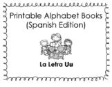 Spanish Printable Alphabet Book (La Letra Uu)