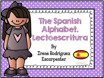 Spanish Printable Alphabet and Vocabulary/Lectoescritura. El Abecedario Español