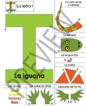 Spanish Printable Animal Letter Craft