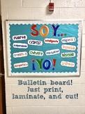 "Spanish Printable Bulletin Board - ""¡Soy Yo!"" FREE"