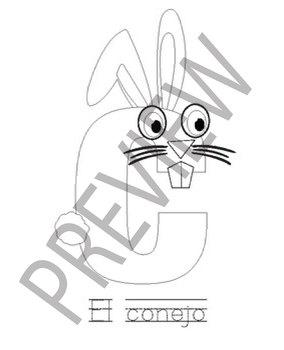 Spanish Printable Letter Animal Craft