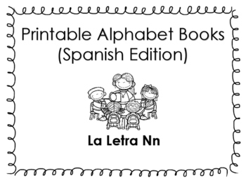 Spanish Printable Letter Book (La Letra Nn)