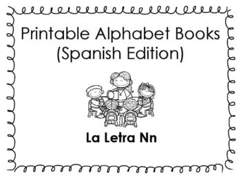 Spanish Printable Letter Book (La Letra Nn)