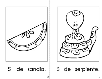 Spanish Printable Letter Book (La Letra Ss)