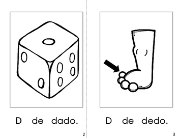 Spanish Printable Letter book (La Letra Dd)