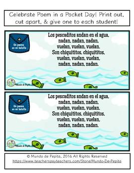 Spanish Printable Poem Los Pescaditos Poesía Infantil